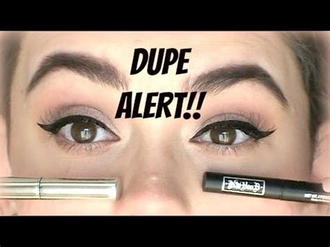 kat von d tattoo liner vs dupe alert kat von d tattoo liner vs jesse s girl liquid