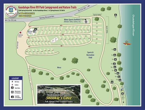 rv parks in texas map guadalupe river rv park cgrounds