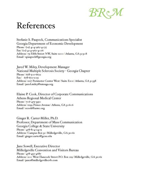 professional references sle of resume reference page