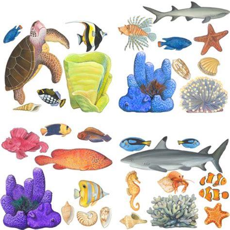 Tropical Fish Wall Decor by 216 Buy Tropical Fish Sea Turtle Wall Sticker Sheet Bath