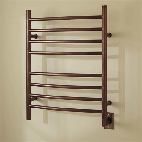 24 quot rivergrove curved hardwired towel warmer towel