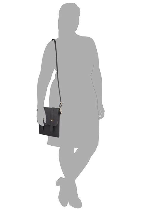 Black Foldover Cross Body Bag