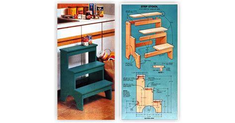 kitchen step stool plans woodarchivist