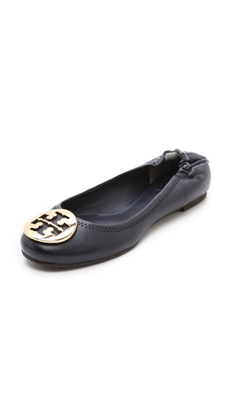 Trend Report Burch Reva Flats Are Going To Be This Second City Style Fashion burch reva logo flats in black bright navy gold lyst