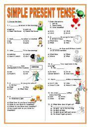 english teaching worksheets present tense