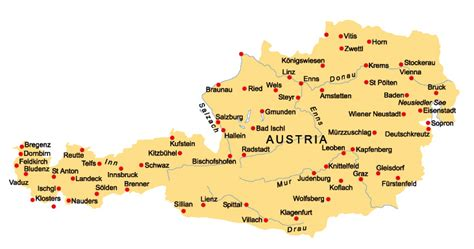 austria map with cities tourist information austria map vho