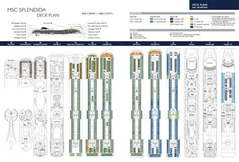 splendida deck plan deck layout msc splendida aussie cruising