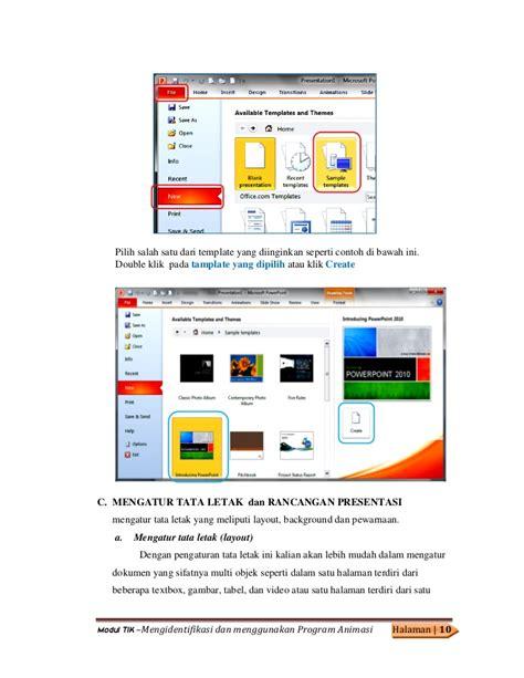 pengaturan layout presentasi modul 27 mengidentifikasi dan menggunakan program animasi