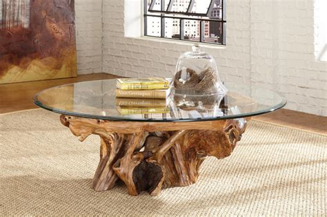 Tree Root Coffee Table Tree Root Glass Top Coffee Table Treasures By Hammary Eclectic Coffee Tables
