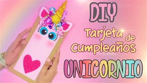 imagenes de unicornios con pensamientos diy tarjeta de felicitaci 243 n de unicornio youtube