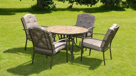 garden tables uk luxury wood effect padded 4 seater 6 metal garden