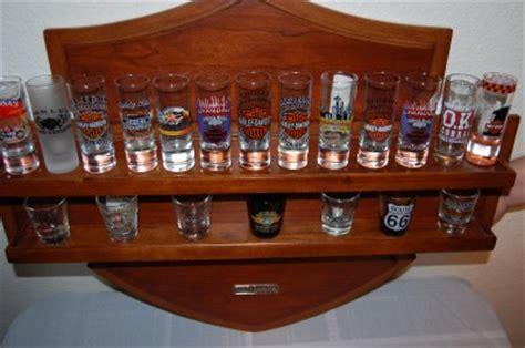 Bar Glasses Display Harley Davidson Glass Shooter Set Display Bar