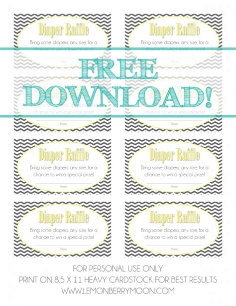 printable bridal shower raffle tickets free download baby shower diaper raffle tickets baby