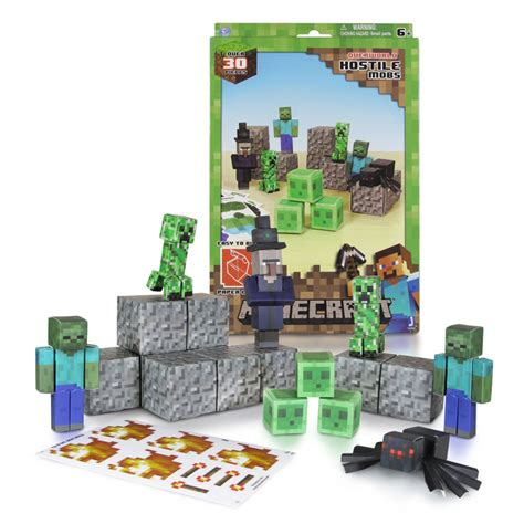 Papercraft Shops - papercraft minecraft figure set hostile mobs dvd zone shop