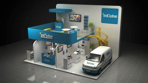 design booth layout incube dubai booth design on behance
