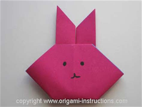 Easy Origami Easter Bunny - origami origami basket bunny and