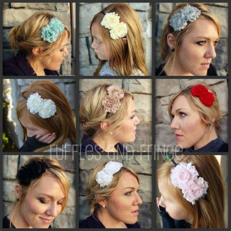 shabby chic flower headband in dusty rose diy fashion