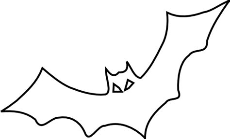 Bat Outline Vector by Bat Outline Clip At Clker Vector Clip Royalty Free Domain