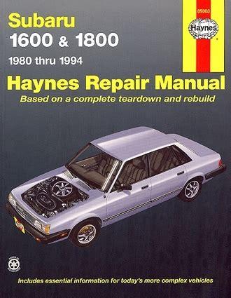 old cars and repair manuals free 1994 subaru loyale parental controls subaru 1600 1800 brat xt loyale repair manual 1980 1994 haynes