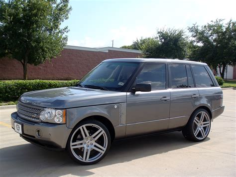 silver range rover black rims range rover supercharged fullsize on 23 quot modulare b11 in