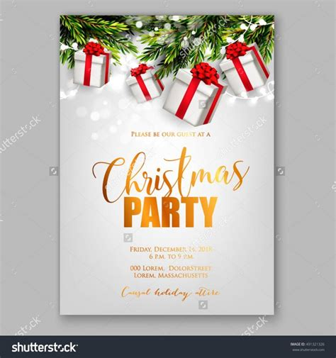 christmas design invitation card merry christmas party invitation and happy new year party