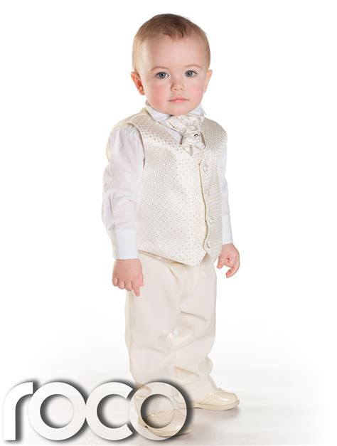 3 M Boy baby boys ivory waistcoat suit page boy suits boys wedding suits 3m 6yrs ebay