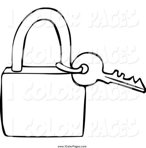 printable keys coloring pages vector coloring page of a lineart key and padlock by djart