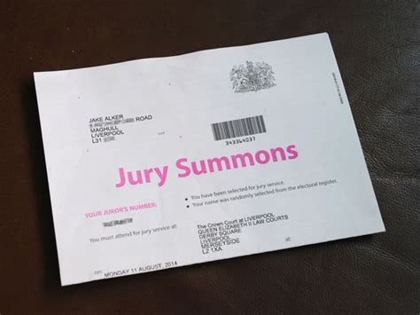 Lost Jury Service Letter Uk 10 Year Gets Jury Service Call In Liverpool Courts Mix Up Liverpool Echo