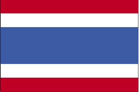flags of the world red white blue horizontal thailand flag