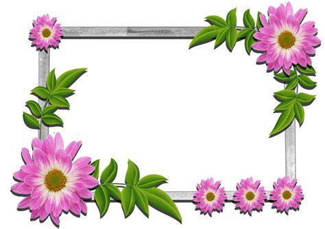 frame design flower flower photo frames design clipart best