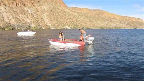 boat r closures canyon lake canyon lake arizona motorcycle powered boat youtube