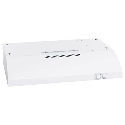 ge under cabinet range hood ge 30 in under the cabinet range hood in white jv347hww