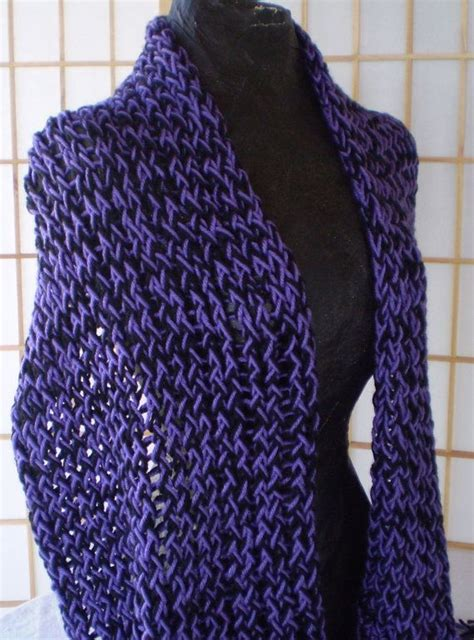 how to loom knit a shawl knitted shawl lavender and black loom knit by