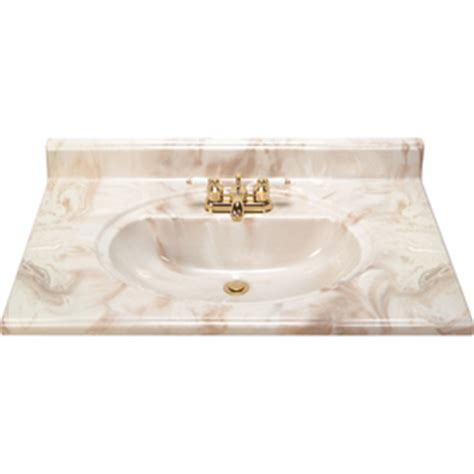 shop style selections caramel cultured marble integral