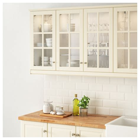 Kitchen Pictures White Cabinets by Bodbyn Glass Door Off White 40x80 Cm Ikea