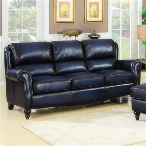 Navy Blue Leather Sofa Leather And Bonded Leather Sofas Blue Leather Furniture