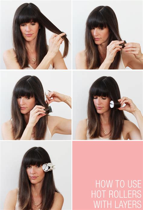 how to use hot rollers for bobbed hair hot rollers for hair