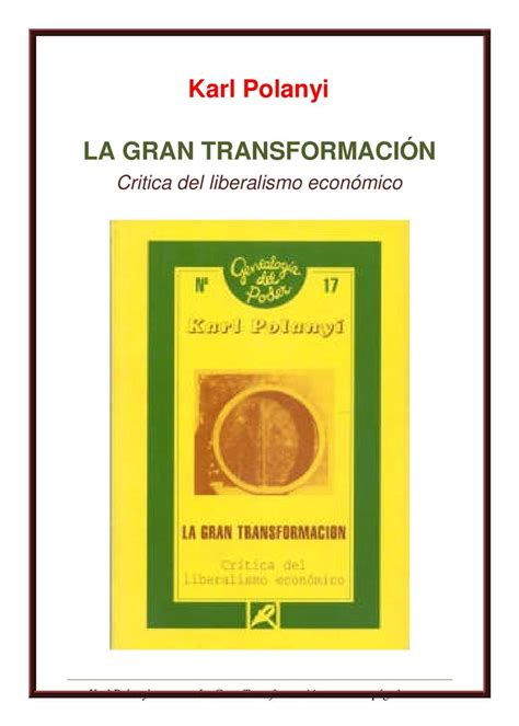la gran transformacin calam 233 o karl polanyi la gran transformaci 211 n 1944