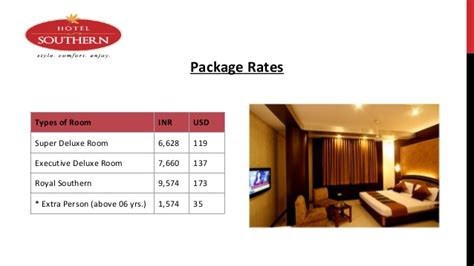Choose Your Hotel Package In Hotel Southern by Choose Your Hotel Package In Hotel Southern