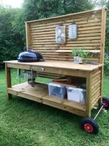diy bbq bench weber grill table utek 246 k tr 228 dg 229 rd outdoor kitchen