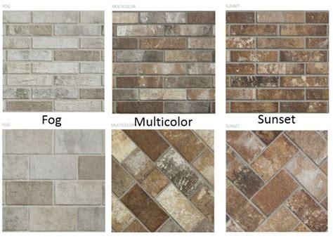 Porcelain Tile Kitchen Backsplash brick floor tile collection creates a timeless craftsman