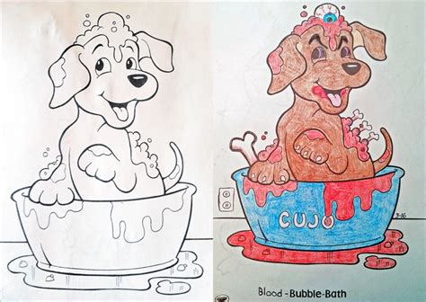 messed up coloring book pages random artists give their morbidly awesome take on