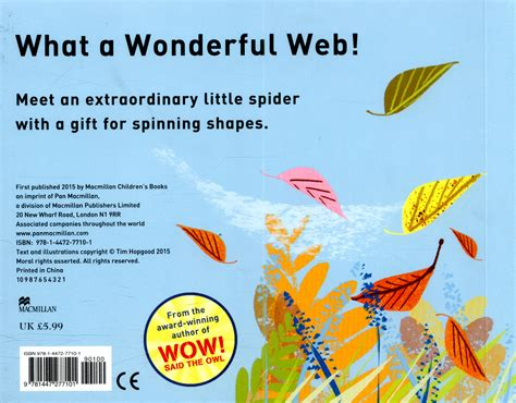 walters wonderful web walter s wonderful web a book about shapes by hopgood tim 9781447277101 brownsbfs