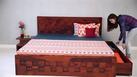 double bed travis bed  storage   india
