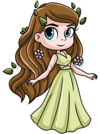goddess aphrodite cartoon greek gods cartoon vector clipart friendlystock