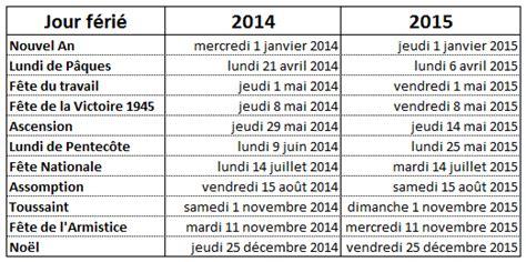 Calendrier F 2015 Liste Des Jours F 233 Ri 233 S 2014 2015 Repr 233 Sentants Des