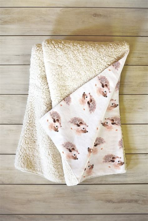 Throw Blanket For by Happy Hedgehog Fleece Throw Blanket Forest