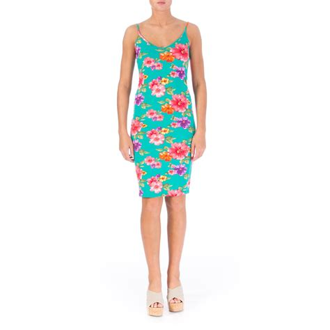 one clothing 2353 womens jersey floral print knee length tank dress juniors bhfo ebay