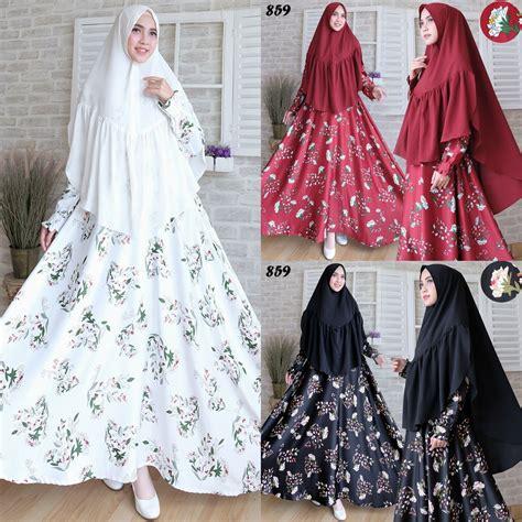 Baju Muslim Syari baju muslim maxmara syari c859 busana gamis terbaru