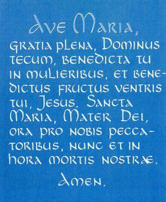 testo the prayer ave prayer